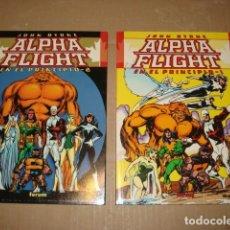 Comics: ALPHA FLIGHT: EN EL PRINCIPIO, COMPLETA, 2 TOMOS, 2000, FORUM, MUY BUEN ESTADO. Lote 273743768
