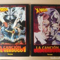 """Comics : X MEN """"LA CANCION DEL VERDUGO"""" 2 TOMOS, SAGA COMPLETAS!. Lote 275219473"""