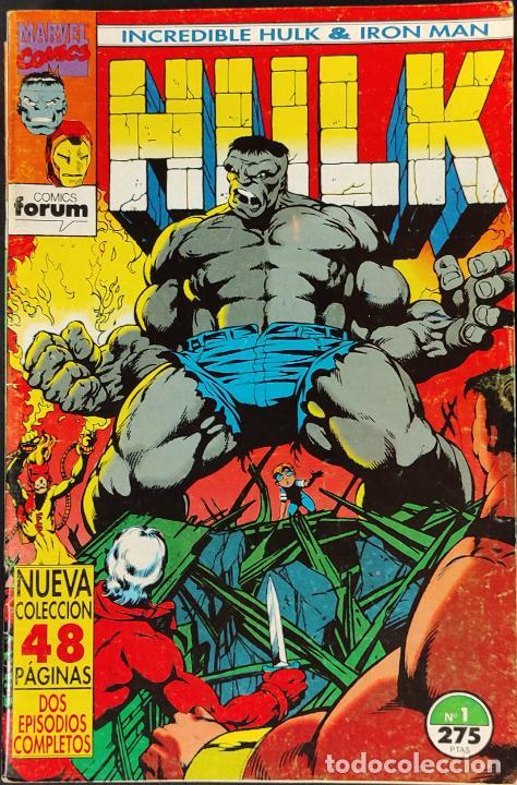 COLECCION COMPLETA - INCREIBLE HULK & IRON MAN - Nº 1 AL Nº 9 -. FORUM - (Tebeos y Comics - Forum - Hulk)