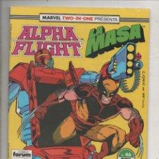 Cómics: MARVEL TWO-IN-ONE PRESENTA ALPHA FLIGHT Y LA MASA VOL. 1 Nº 46 - FORUM. Lote 275312733