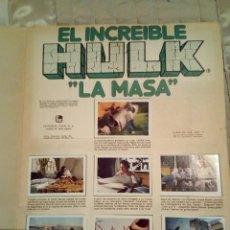 Cómics: ANTIGUO ÁLBUM EL INCREÍBLE HULK LA MASA. Lote 275335083