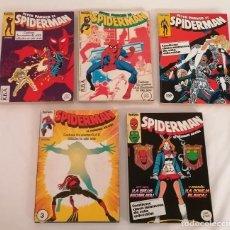 Cómics: MARVEL PETER PARKER ES SPIDERMAN LOTE RETAPADOS ED. FORUM AÑOS 80. Lote 275782758