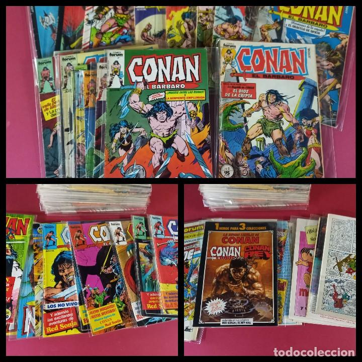 CONAN EL BARBARO -COLECCION COMPLETA CON LOS 3 EXTRAS -FORUM ( 216 EJEMPLARES ) (Tebeos y Comics - Forum - Conan)