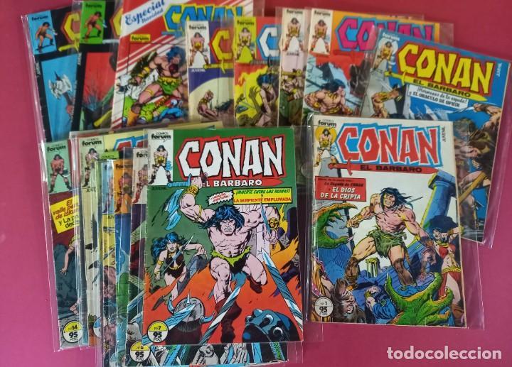 Cómics: CONAN EL BARBARO -COLECCION COMPLETA CON LOS 3 EXTRAS -FORUM ( 216 EJEMPLARES ) - Foto 2 - 276237733
