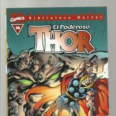 Cómics: BIBLIOTECA MARVEL: THOR 34, 2004, FORUM, MUY BUEN ESTADO. Lote 276739378