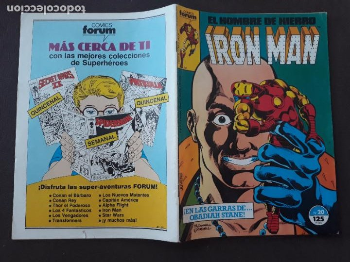 IRON MAN VOL.1 FORUM Nº 20 (Tebeos y Comics - Forum - Iron Man)