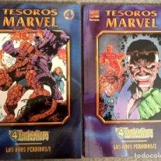Cómics: TESOROS MARVEL: LOS 4 FANTÁSTICOS - LOS AÑOS PERDIDOS (2 TOMOS COMPLETA). Lote 276919603