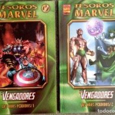 Cómics: TESOROS MARVEL: LOS VENGADORES - LOS AÑOS PERDIDOS (2 TOMOS COMPLETA). Lote 276920783