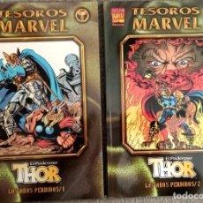 Cómics: TESOROS MARVEL: EL PODEROSO THOR - LOS AÑOS PERDIDOS (2 TOMOS COMPLETA). Lote 276921733