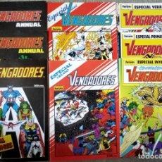Cómics: LOS VENGADORES (LOTE 8 NÚMEROS ESPECIALES). Lote 276924218
