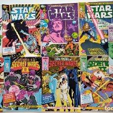 Cómics: LOTE 9 COMICS: STAR WARS (Nº 9, 11, 13 Y 15) Y SECRET WARS (Nº 33, 34, 35, 36 Y 43) COMICS FORUM. Lote 276929028