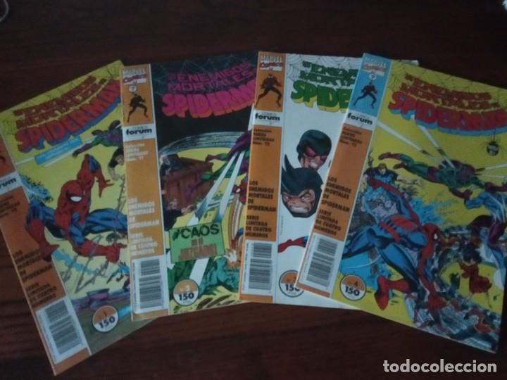 LOS ENEMIGOS MORTALES DE SPIDERMAN Nº 1 AL 4 COLECCIÓN COMPLETA (1, 2, 3, 4) FORUM. (Tebeos y Comics - Forum - Spiderman)
