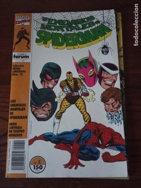 Cómics: Los enemigos mortales de Spiderman nº 1 al 4 Colección COMPLETA (1, 2, 3, 4) Forum. - Foto 4 - 276960078