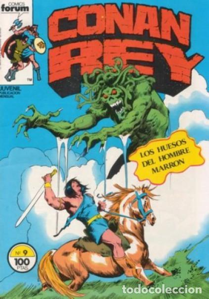 CONAN REY-FORUM- Nº 9 -LOS HUESOS DEL HOMBRE MARRÓN-1984-JOHN BUSCEMA-BUENO-DIFÍCIL-LEA-5268 (Tebeos y Comics - Forum - Conan)