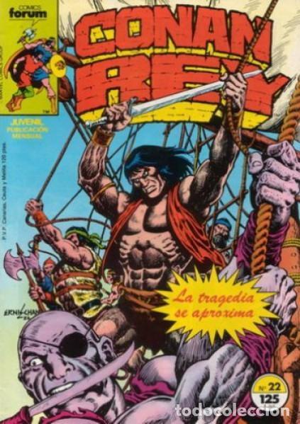 CONAN REY-FORUM- Nº 22 -EL PRÍNCIPE HA MUERTO-1986-MARK SILVESTRI-CASI BUENO-DIFÍCIL-LEA-5269 (Tebeos y Comics - Forum - Conan)