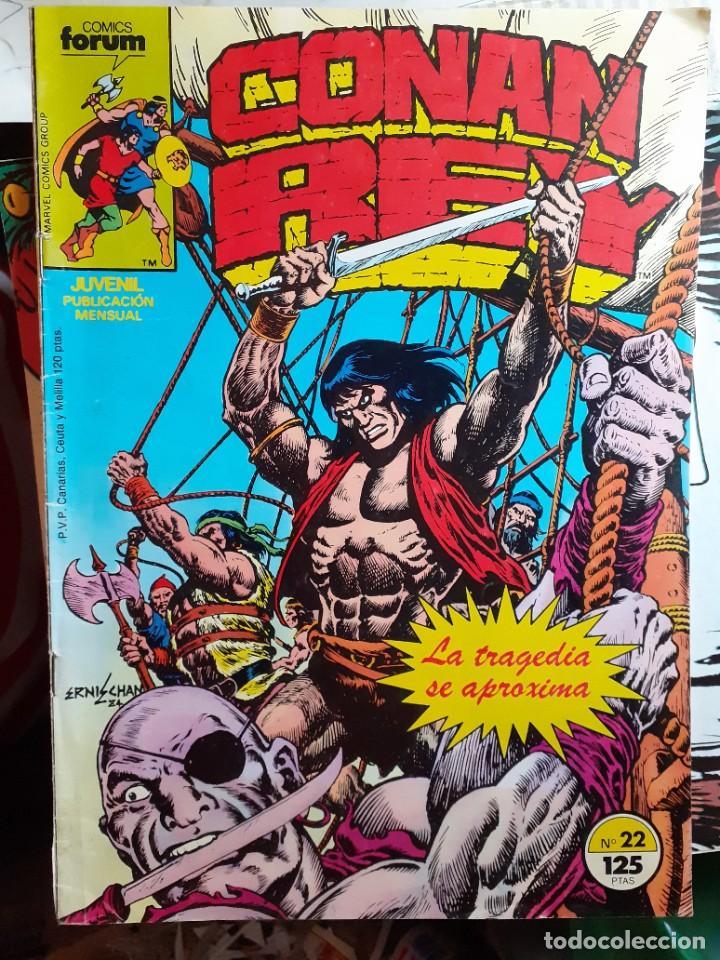 Cómics: CONAN REY-FORUM- Nº 22 -EL PRÍNCIPE HA MUERTO-1986-MARK SILVESTRI-CASI BUENO-DIFÍCIL-LEA-5269 - Foto 2 - 276962498