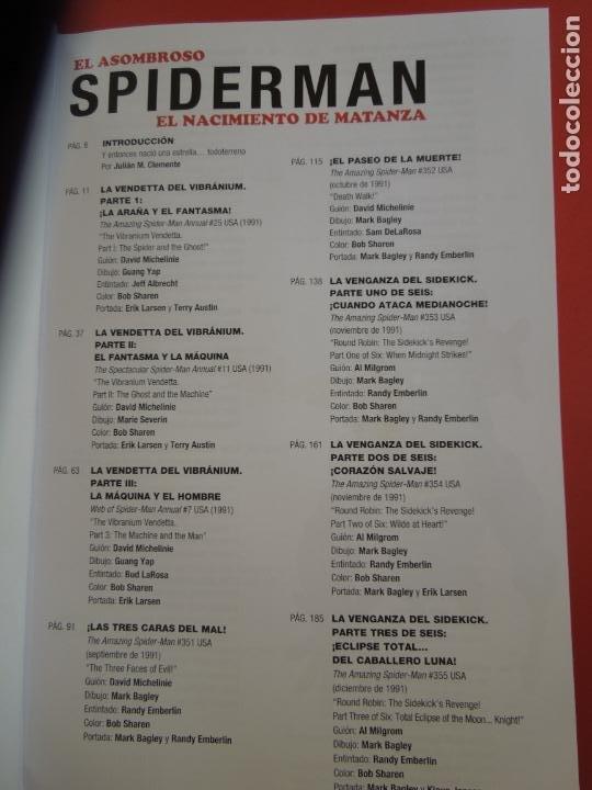 Cómics: EL ASOMBROSO SPIDERMAN - EL NACIMIENTO DE MATANZA-MARVEL -CHRIS MARRINAN , MARK BAGLEY-2020 - Foto 3 - 277078803