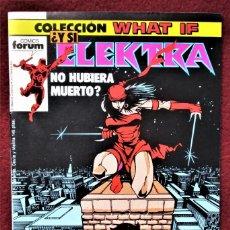 Cómics: COLECCIÓN WHAT ELEKTRA Nº 7 FORUM DE TIENDA .VER DESCRIPCIÓN Y FOTOS.. Lote 277148553