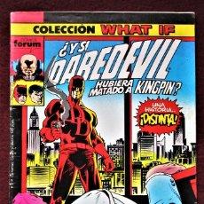 Cómics: COLECCIÓN WHAT DAREDEVIL Nº 9 FORUM 1989 MUY BUEN ESTADO/EXCELENTE. VER DESCRIPCIÓN Y FOTOS.. Lote 277150418
