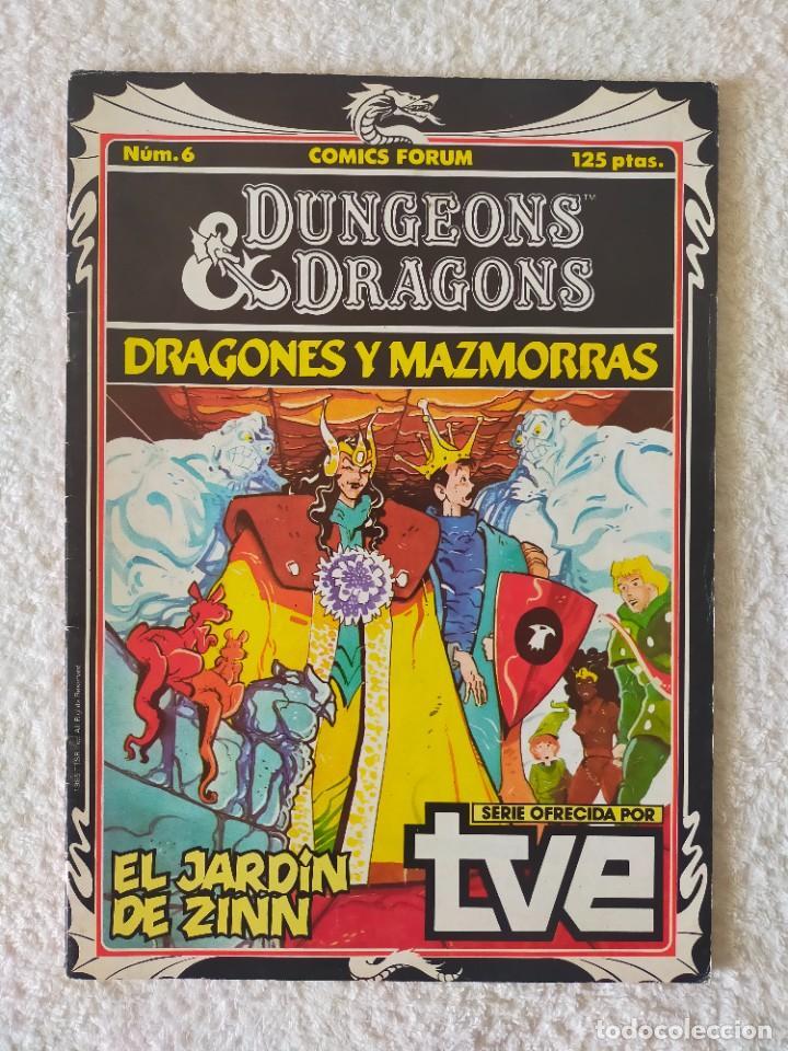 DRAGONES Y MAZMORRAS Nº 6: EL JARDÍN DE ZINN - EDICIONES FORUM 1985 (Tebeos y Comics - Forum - Otros Forum)