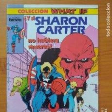 Cómics: COLECCION WHAT IF Nº 4 - ¿Y SI SHARON CARTER NO HUBIERA MUERTO? - MARVEL - FORUM (FZ). Lote 277184278