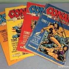 Cómics: 4 TOMOS DE CONAN EL BARBARO FORUM. Lote 277214148