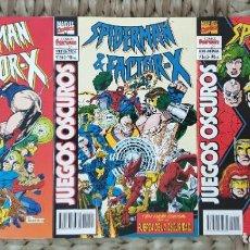 Cómics: SPIDERMAN & FACTOR-X. JUEGOS OSCUROS DE KURT BUSIEK. SL DE 3 COMICS. COMICS FORUM 1995. Lote 277564838