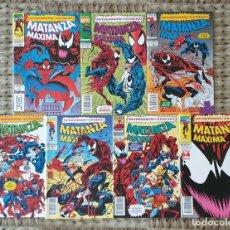 Cómics: SPIDERMAN/VENENO. MATANZA MAXIMA. SL DE 7 COMICS. COMICS FORUM 1994. Lote 277572808