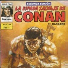 Cómics: LA ESPADA SALVAJE DE CONAN, EL BÁRBARO. SERIE ORO. NÚM. 64. COMICS FORUM. 2ª EDICIÓN. Lote 277667578