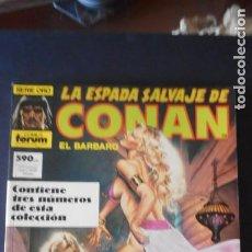 Cómics: RETAPADO CON 3 NÚMEROS . SERIE ORO . LA ESPADA SALVAJE DE CONAN / C-1. Lote 277698683