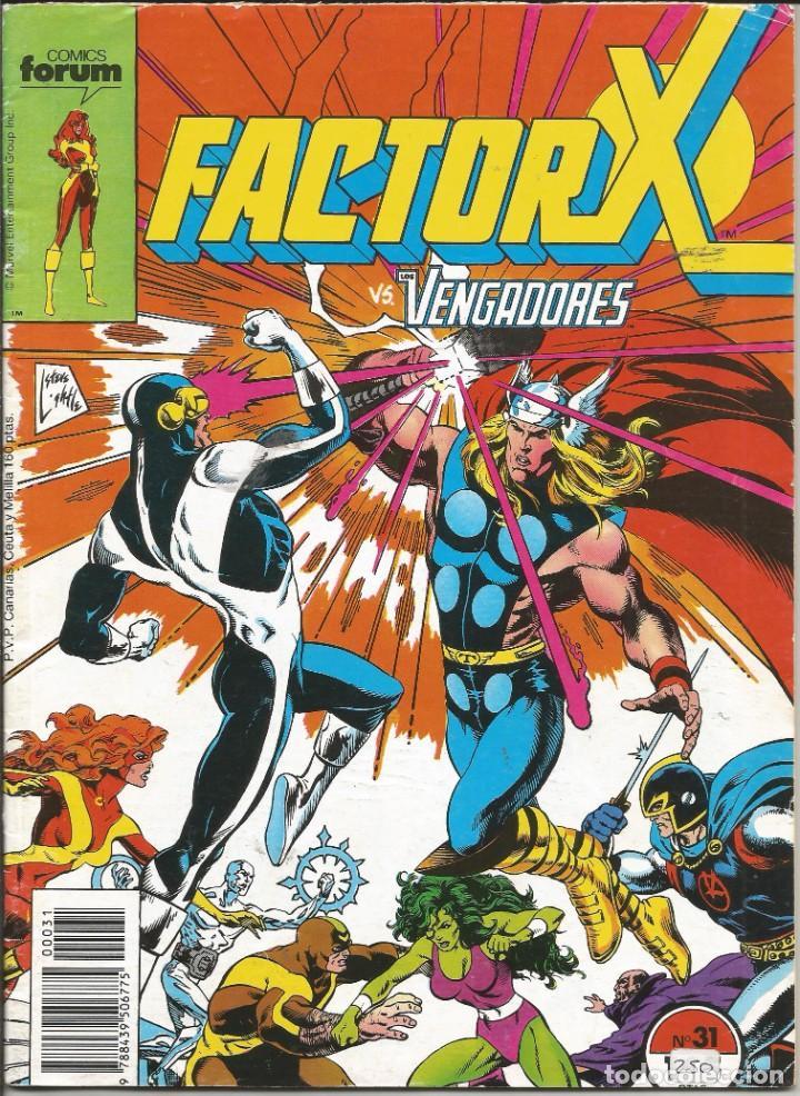 FORUM - FACTOR X Nº 31 AÑO 1989 BUEN ESTADO (Tebeos y Comics - Forum - Factor X)