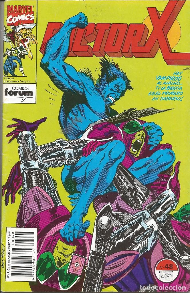 FORUM - FACTOR X Nº 48 AÑO 1989 BUEN ESTADO (Tebeos y Comics - Forum - Factor X)