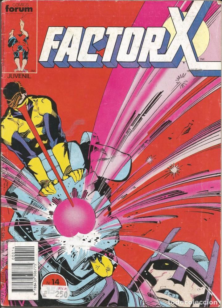 FORUM - FACTOR X Nº 14 AÑO 1989 BUEN ESTADO (Tebeos y Comics - Forum - Factor X)