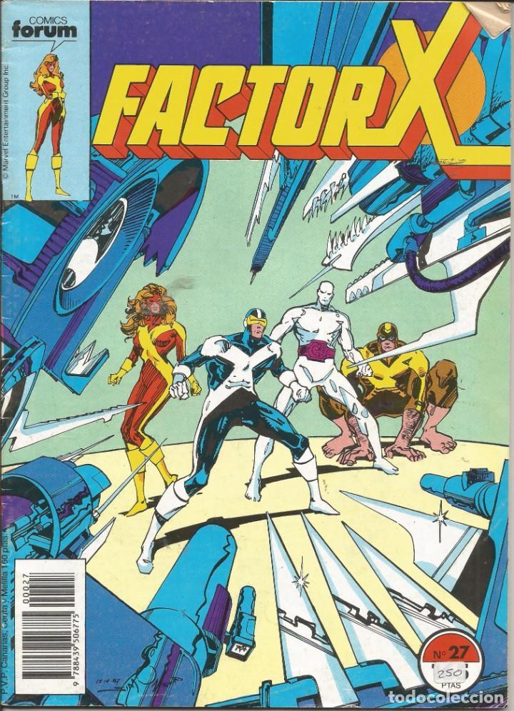 FORUM - FACTOR X Nº 27 AÑO 1989 BUEN ESTADO (Tebeos y Comics - Forum - Factor X)