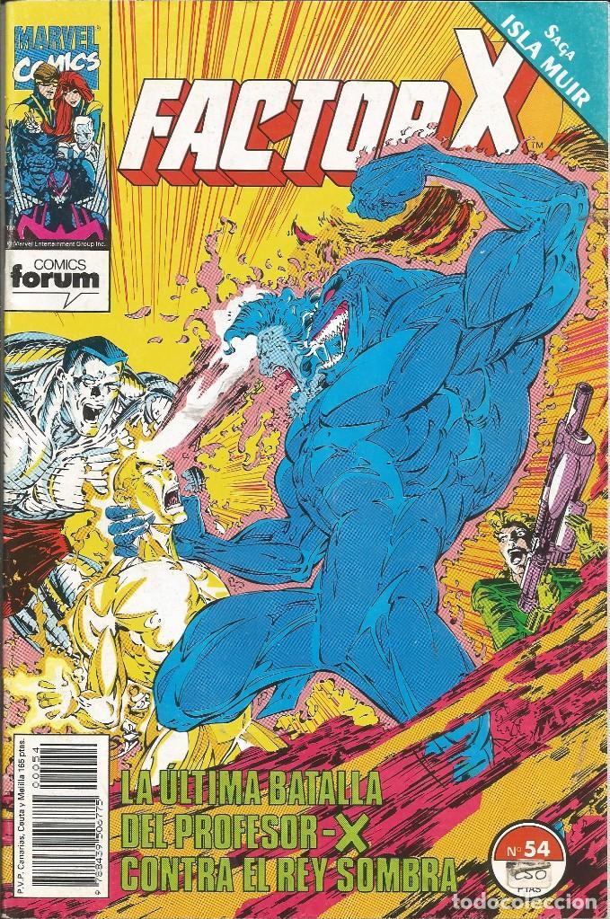 FORUM - FACTOR X Nº 54 AÑO 1989 BUEN ESTADO (Tebeos y Comics - Forum - Factor X)