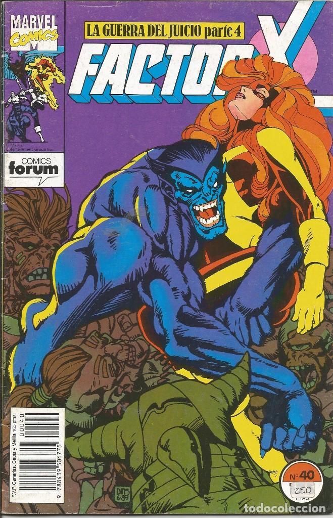 FORUM - FACTOR X Nº 40 AÑO 1989 BUEN ESTADO (Tebeos y Comics - Forum - Factor X)