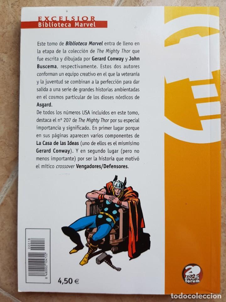Cómics: BIBLIOTECA MARVEL THOR NÚM. 18, B/N, FÓRUM - Foto 2 - 278163683