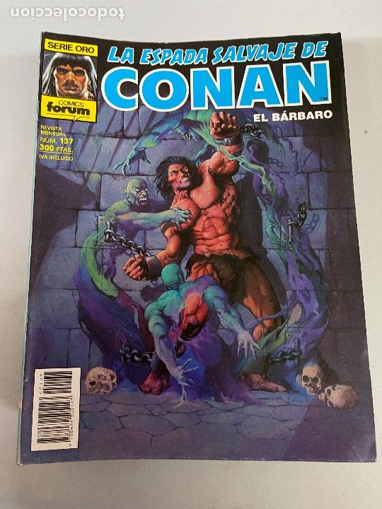 FORUM LA ESPADA SALVAJE DE CONAN NUMERO 137 MUY BUEN ESTADO (Tebeos y Comics - Forum - Conan)