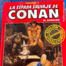 Cómics: FORUM ESPADA SALVAJE DE CONAN SERIE ROJA TOMO 1 MUY BUEN ESTADO. Lote 278405853