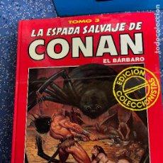Cómics: FORUM ESPADA SALVAJE DE CONAN SERIE ROJA TOMO 3 MUY BUEN ESTADO. Lote 278406438