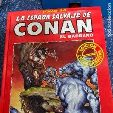 Cómics: FORUM ESPADA SALVAJE DE CONAN SERIE ROJA TOMO 24 MUY BUEN ESTADO. Lote 278407138