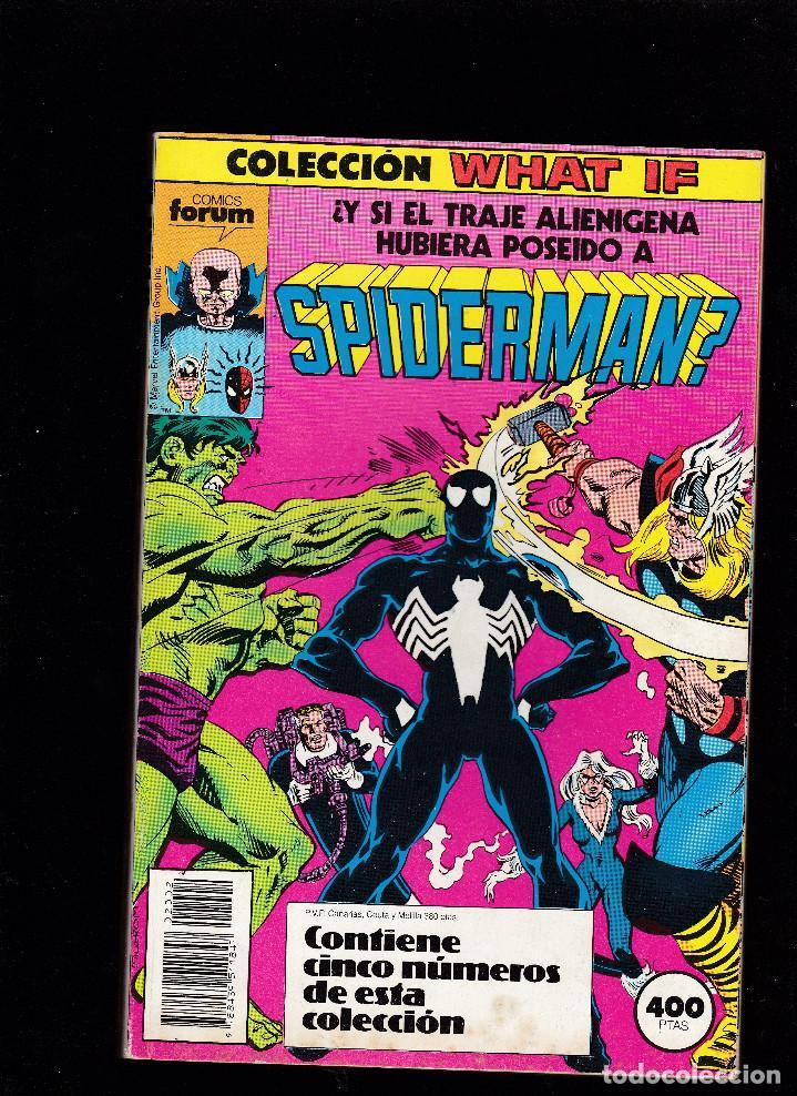 WHAT IF - RETAPADO FORUM Nº 6 AL 10 - Y SI EL TRAJE ALIENIGENA HUBIERA POSEIDO A SPIDERMAN - (Tebeos y Comics - Forum - Retapados)