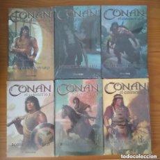 Cómics: CONAN EL CIMMERIO DE CIMMERIA ROBERT E. HOWARD TIMUN MAS 6 TOMOS COLECCIÓN COMPLETA NUEVO PRECINTADO. Lote 278838938