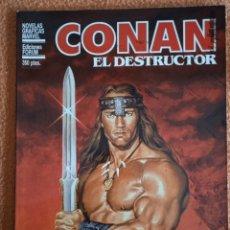 Cómics: CONAN EL DESTRUCTOR NOVELAS GRAFICAS MARVEL. Lote 280163918