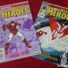 Comics: MARVEL HEROES NºS 54 Y 55 IRON MAN STARK WARS FORUM. Lote 283929308