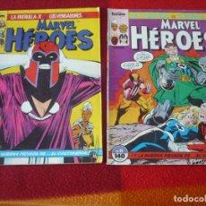 Cómics: MARVEL HEROES NºS 8 Y 11 LA PATRULLA X LOS VENGADORES LOS 4 FANTASTICOS FORUM. Lote 284685443