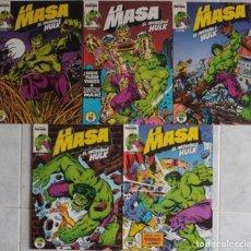 Cómics: LA MASA EL INCREÍBLE HULK / Nº 1 AL 5 / FORUM - REF.092. Lote 285051198