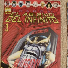 Cómics: THANOS: EL ABISMO DEL INFINITO (MINISERIE COMPLETA) FORUM NÚMEROS 1 AL 6 - IMPECABLE. Lote 285483283