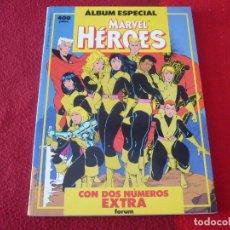 Cómics: MARVEL HEROES ALBUM ESPECIAL 2 NUMEROS EXTRA ( NUEVOS MUTANTES ESTELA ) ¡MUY BUEN ESTADO! FORUM. Lote 285959968