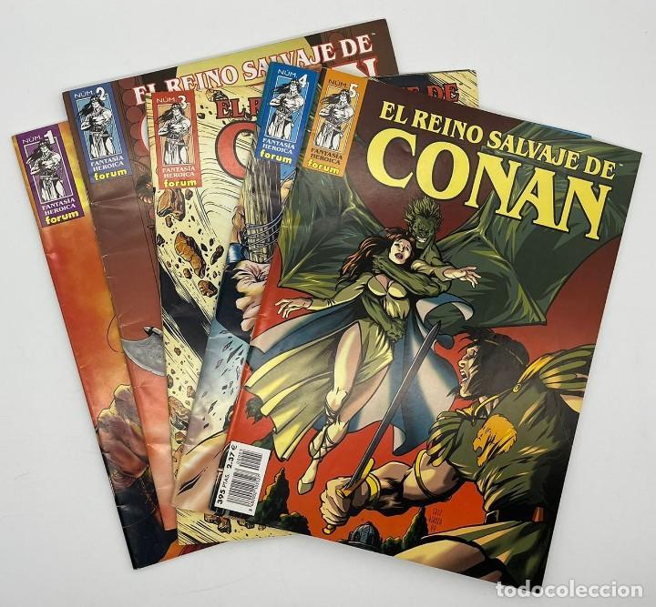 EL REINO SALVAJE DE CONAN NUMEROS 1-2-3-4-5 (Tebeos y Comics - Forum - Conan)